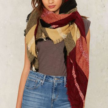 Westminster Blannket Scarf - Red