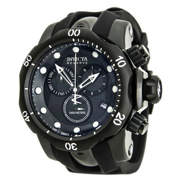 Invicta 80580 Men's Venom Chronograph Black MOP Dial Rubber Strap Dive Watch