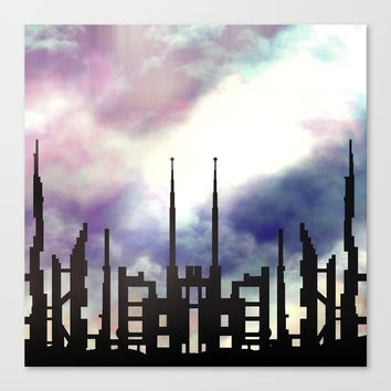 Cityskape Canvas Print by Moonlit Emporium