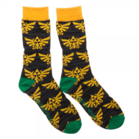 The Legend of Zelda Hylian Crest Crew Socks