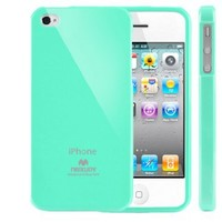 Mercury Slim Fit Flexible TPU Case for Apple iPhone 4 (Turquoise / Mint): Cell Phones & Accessories