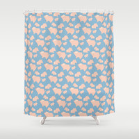 Paper Pigs (Patterns Please Series #3) Shower Curtain by lalainelim