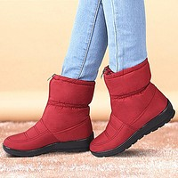 Warm Women Winter Boots Female Down Waterproof Snow Ankle Boots Shoes Plush Insole Botas Mujer Zapatos Mujer