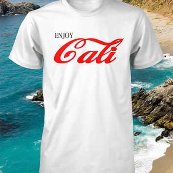 Enjoy Cali Shirt I Love California Tshirt Mens Tee Ladies T-Shirt Boys Youth Womens Fitted Los Angeles Hollywood Beach S M L XL 2XL 3XL 4XL