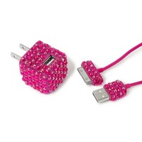 Rhinestone USB Charger for iPhone, iPad and iPod  | Icing
