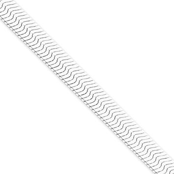 Men's 8.75mm, Sterling Silver Solid Herringbone Chain Necklace, 18in