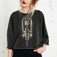 Ecote Armour Raglan Sweatshirt in Black - Urban Outfitters