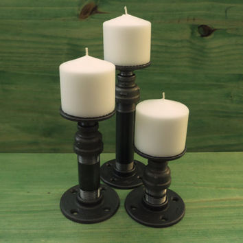 Cool Pillar Candle Holders Cedar Creek Essentials Steampunk Decor