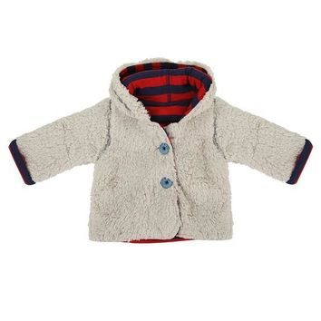 Reversible Red Teddy Bear Coat by Lilly + Sid