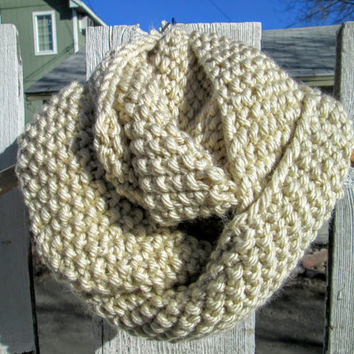 Oversized, Chunky Cream Cowl