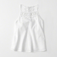 girls Lace Trim Cami | girls tops | Abercrombie.com