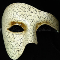 Men Masquerade Mask Phantom of the Opera  Venetian Mask for Men Costume Party Prom Half Face Mask
