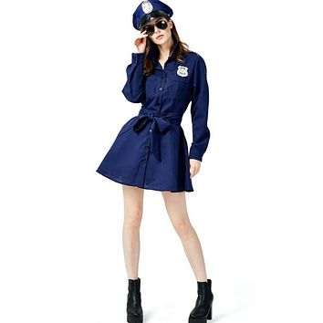 Policewoman Cosplay Costume Professional Play Uniform