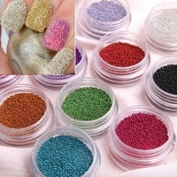 Amazon.com: 350buy Fashion Caviar Nails Art New 12 Colors plastic Beads Manicures or Pedicures Nail Art Hot Sales: Beauty