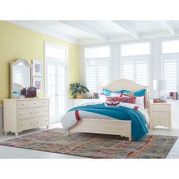 6481 Summerset Ivory - Youth Bedroom (Low Poster Bed)
