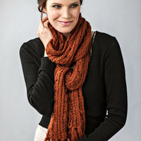Zazou Madeleine Knit Scarf in Brandy