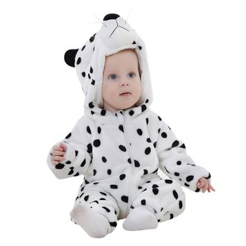 Baby rompers Winter Toddler Newborn Baby Boys Girls Animal Cartoon Hooded Rompers Outfits Baby Clothes drop ship