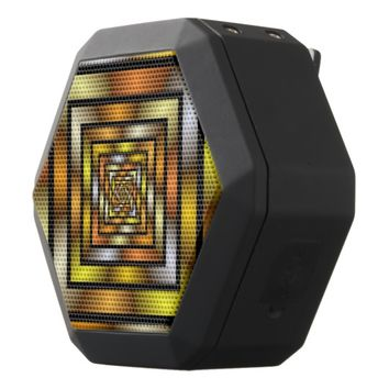 Luminous Tunnel Colorful Graphic Fractal Pattern Black Bluetooth Speaker