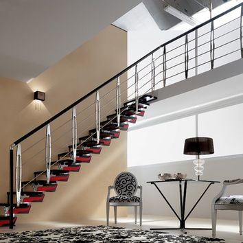 OPEN STAIRCASE WITH CENTRAL STRINGER KNOCK DESIGN | RINTAL