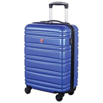 SWISSGEAR Wallen II 20 Inch Hard Side 4-Wheeled Carry-On Luggage - Blue