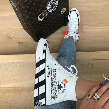 Converse 70s Hi x Off-white Canvas High-top Sneakers Shoes