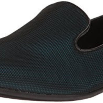 GIORGIO BRUTINI MENS COLLIER SLIP-ON LOAFER, BLACK/BLUE, 13 US/13 M US