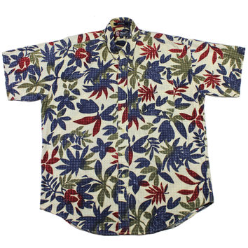Vintage Chaps Ralph Lauren Hawaiian Shirt Mens Size Large