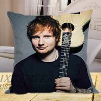 Ed Sheeran Music Guitar on square pillow cover 16inch 18inch 20inch