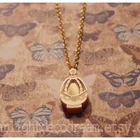 MADE to ORDER Mini Puella Magi Madoka Magica MAMI Fanart Acrylic Soul Gem Necklace or Phone Strap for Magical Girl, Cosplay, or Mahou Kei