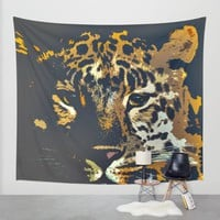 Leopard Wall Tapestry by Animilustration | Society6
