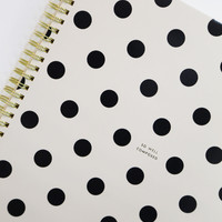 Spiral Notebook Large 'So Well Composed': Kate Spade