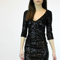 Check Up On It Dress in Black   Wow Couture Gold