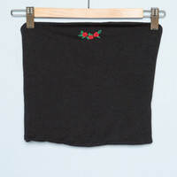 Jenny Rose Embroidery Tube Top - Tops - Clothing