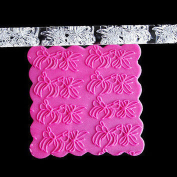 Embossing Acrylic Rolling Pin Fondant Sugar Craft Cake Baking Decorating ToolHU