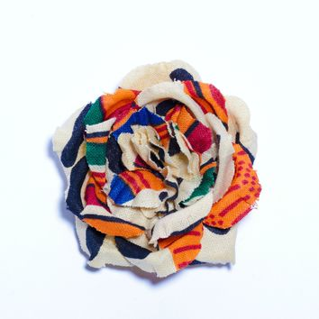 Rose- Kente Cloth - Magnetic Lapel Flower