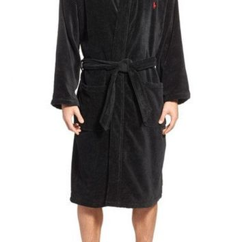 CREYON COTTON FLEECE ROBE
