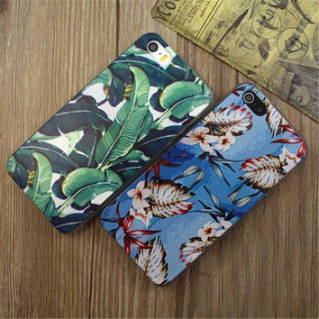 Vintage Banana Leaf Case Cover for iPhone 5s 6 6s Plus Gift 08