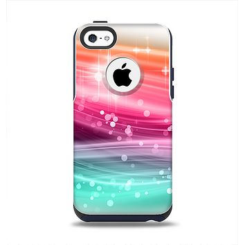 The Vibrant Multicolored Abstract Swirls Apple iPhone 5c Otterbox Commuter Case Skin Set