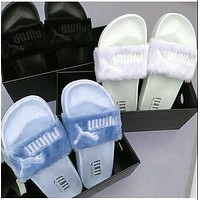 Puma Rihanna Popular Leadcat Fenty Fashion Fur Slide Sandal Slipper Women Shoes