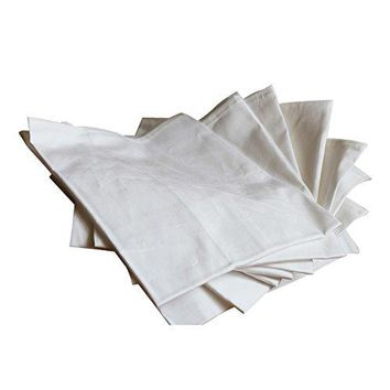 Set of 12 Pack 100% Cotton Dinner Napkins -(17 inches x17 inches),Kicthen Table Cloth ,Soft and Comfortable for Hotel , Party ,Wedding,Tea Coffee Cocktail Napkin,Ideal for Events and Regular Home Use