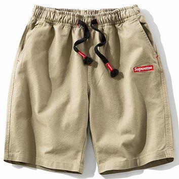 SUPREME Men's Casual Pants Trendy Fashion Mens Shorts F0279-1 Khaki