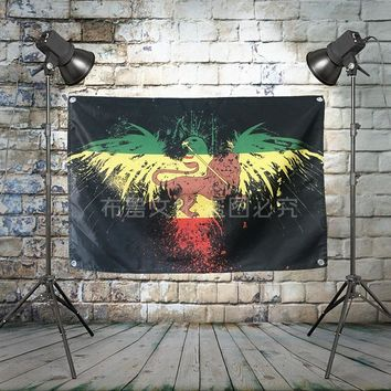 """""""Bob Marley"""" Rock Band Poster Cloth Flag Banner Hanging Pictures Music Festival Musical Instrument Store Decor"""