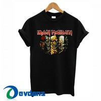 Iron Maiden Face T Shirt Women And Men Size S To 3XL