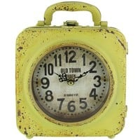 Yellow Old Town Double Metal Clock with Handle | Shop Hobby Lobby