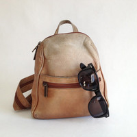 Vintage Leather Mini Backpack Purse
