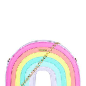 Pastel Rainbow Cross Body Bag by Skinny Dip London