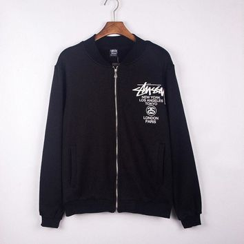 Stussy Sports Zippers Hoodies Jacket Baseball