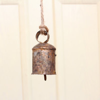 Sale Handmade Windchimes and Bells with Jute Rope to Hang in your house for a Vintage Look,Cow bells, Wind Chime, Valentines day gift
