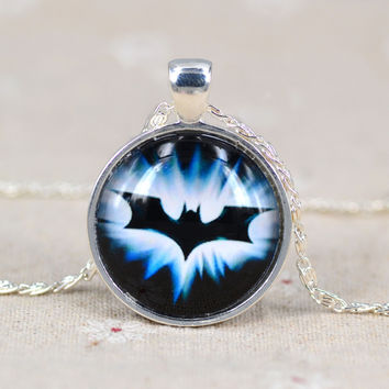 Batman silver plated necklace