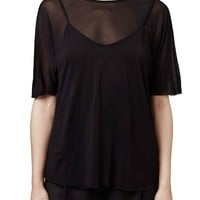 Topshop Boutique Camisole Overlay Sheer Top | Nordstrom